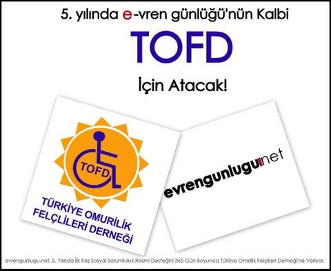 e-vren günlüğü 5. yılında TOFD'a destek veriyor!